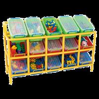 Система хранения для контейнеров с наклоном х15 + контейнеры 15 шт.