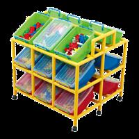 Система хранения для контейнеров с наклоном х18 + контейнеры 18 шт.