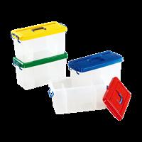 Контейнер 3 секции-красный/зеленый/желтый/синий