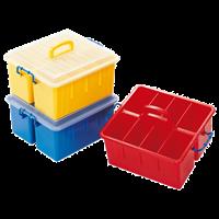 Контейнер с секциями-красный/желтый/синий