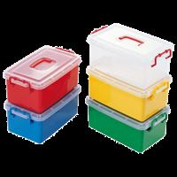 Контейнер большой - красный/желтый/зеленый/синий/прозрачный